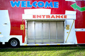 Closed entrance of a funfair — Stock Photo