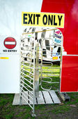 Exit only turnstile of a funfair — Stock Photo