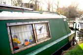 Houseboat on a London canal — Stock Photo