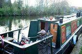 Hausboot am kanal — Stockfoto