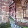 Church courtyard of Basel Minster — Stock Photo