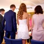 Civil marriage ceremony — Stock Photo