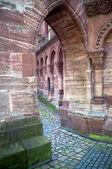 Church courtyard of Basel Minster — Stock Photo