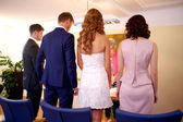 Civil marriage ceremony — Stock Photo