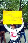 Turkish Protester — Stock Photo