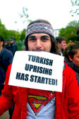 Turkish Protester in Hyde Park — Stock Photo