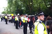 Cordon policial uk — Foto de Stock