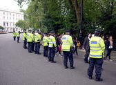 London police during a demonstration — Stock Photo
