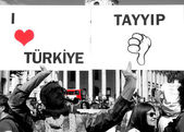 Turkish Protester in London — Stock Photo