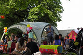 Children birthday party in the park — Stock Photo