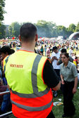 Security of a Park Festival — Stock Photo