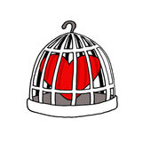Jailed Love — Stock Vector