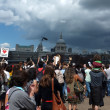Foto Stock: Demo by River Thames