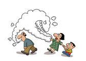 Passive smoking — Stock Vector