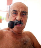 Pipe Smoker — Stock Photo