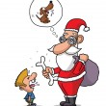 Short sighted Santa — Stock Vector