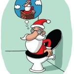 Santa's vision problem — Stock Vector