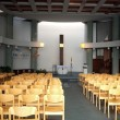 Interior of a modern church — Stock Photo