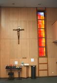 Jesus Christus in eine moderne Kirche — Stockfoto