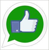 Facebook は whatsapp を買う — ストック写真