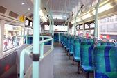 Seats on a London bus — Stock Photo