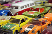 Vintage little toy cars — Stock Photo