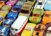 Vintage little toy cars — 图库照片