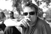 Cigar smoking guy — Stock Photo