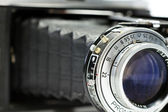 Close up shot of a vintage camera's lens — Stockfoto