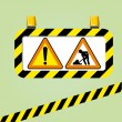 Warning signs vector — Stock Vector