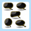 Black speech bubble — Stock Vector