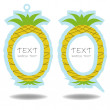 Pineapple speech bubble and price tag vector - Stock Vector