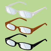 Glasses and spectacles vector — Stock Vector