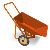 Wheelbarrow vector — Stock Vector