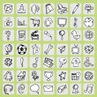 Freehand icon set — Stock Vector