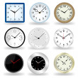 Wall Clock vector — Vector de stock