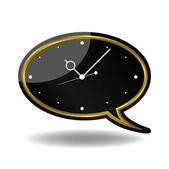Wall Watch Speech Bubble design vector — Vettoriale Stock