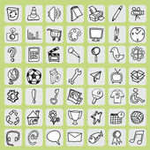 Freehand icon set — Stock Vector