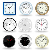 Wall Clock vector — Stock Vector