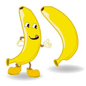 Banana cartoon vector — Stock Vector