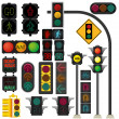 Traffic light vector — Stock Vector #22251973