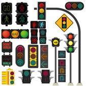 Traffic light vector — Stock Vector