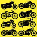 Vintage Motorcycle motorbike vector — Stock Vector #22343385