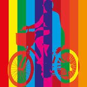 Reiten sie radfahren fahrrad vektor — Stockvektor