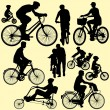 Riding bicycle - vector - Imagen vectorial