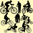 Riding bicycle - vector - Image vectorielle