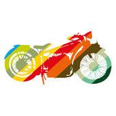 Vintage Motorcycle motorbike color art vector — Stock Vector