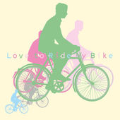 Love to ride bike — Stock Vector