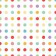 Seamless pastel dot background vector — Stok Vektör