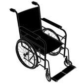Wheelbarrow silhouette vector — Stock Vector